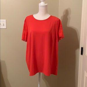 Michael Kors Orange Tunic Blouse Size XL